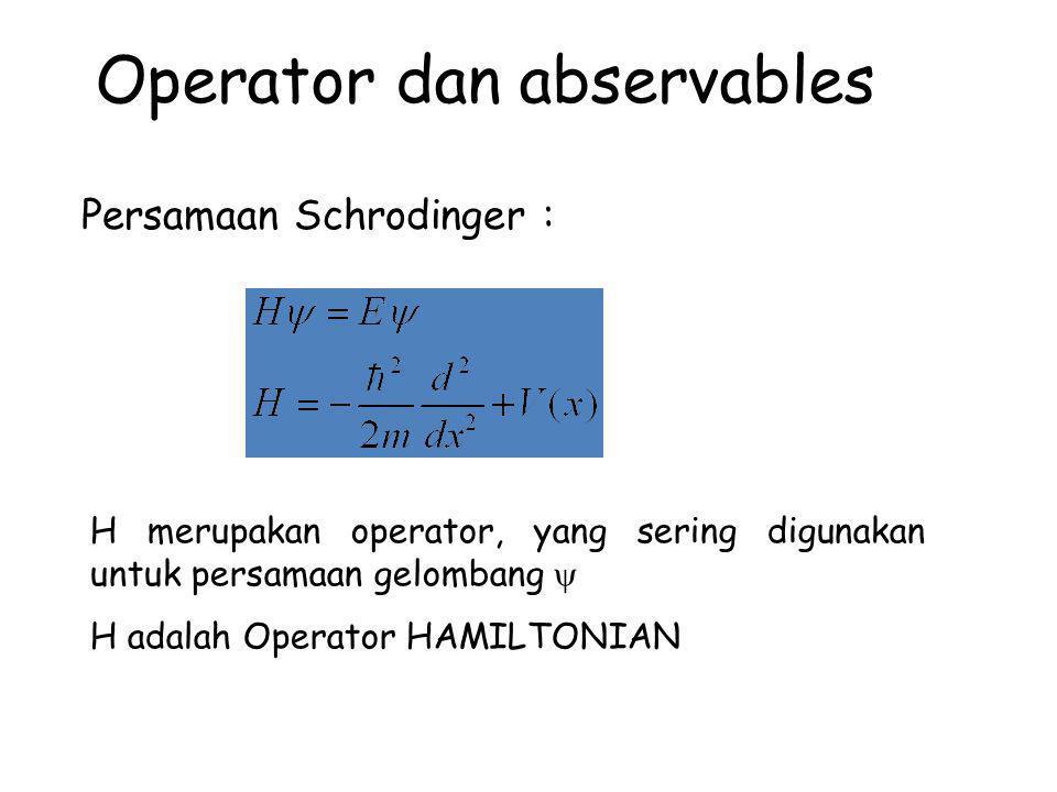 Operator dan abservables