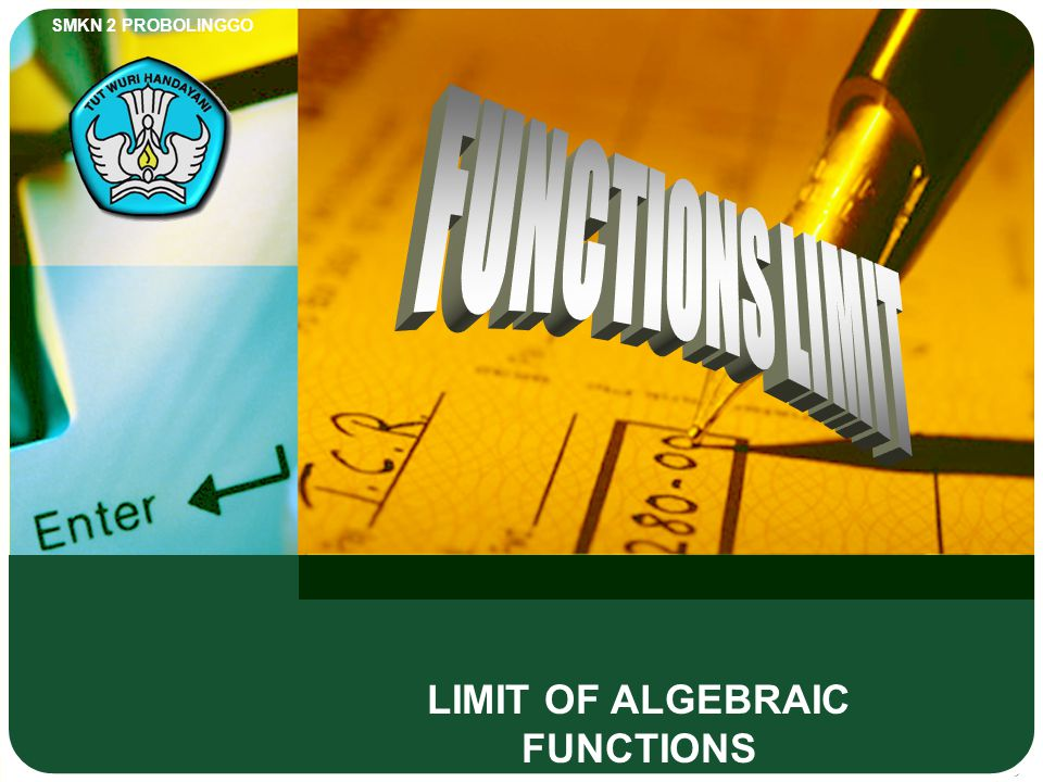 LIMIT OF ALGEBRAIC FUNCTIONS