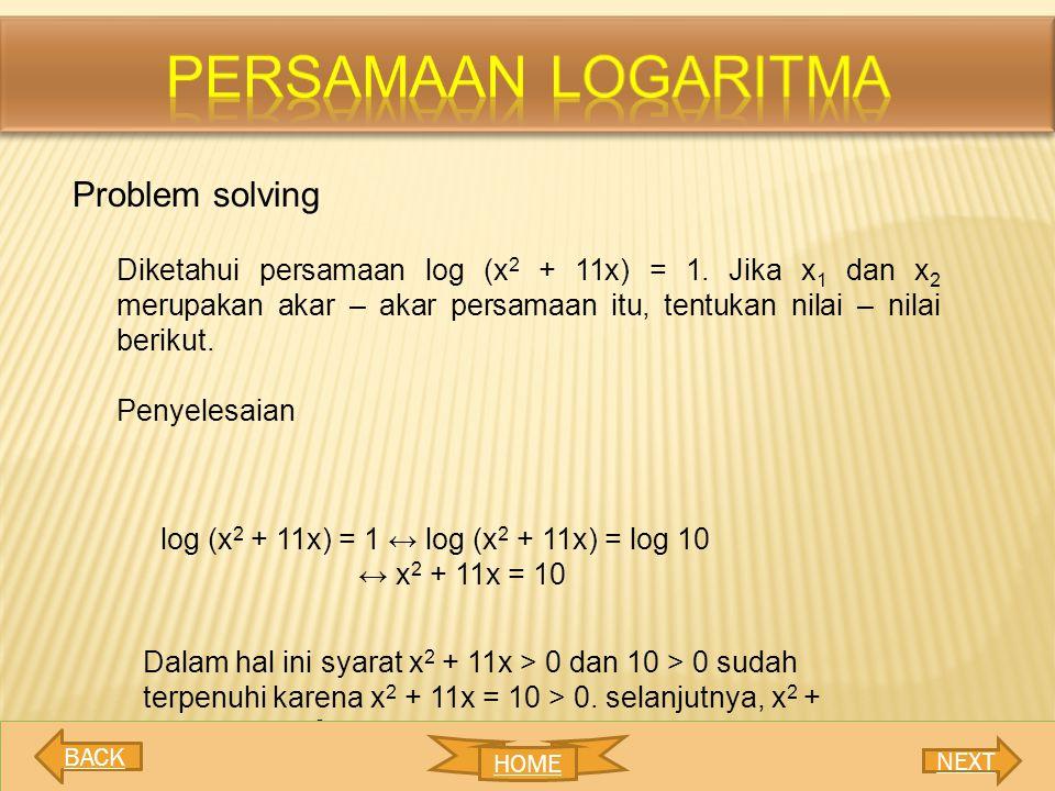 Persamaan logaritma Problem solving