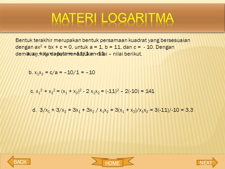 MATERI LOGARITMA