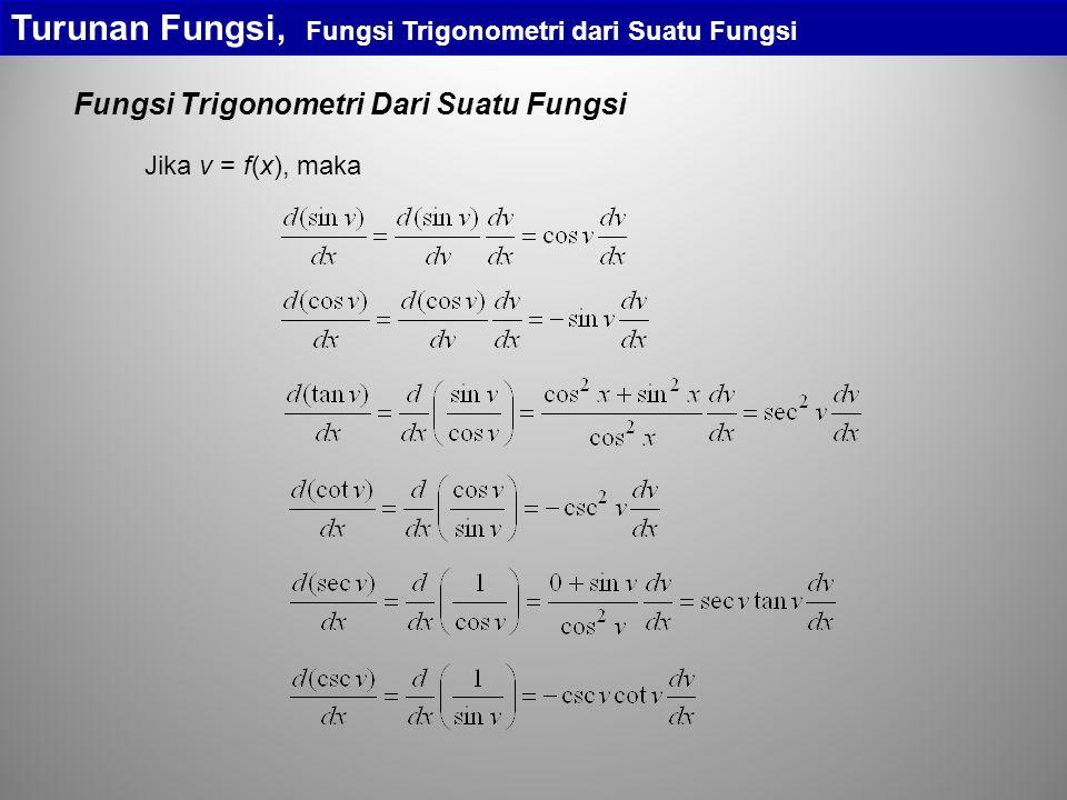 Turunan Fungsi, Fungsi Trigonometri dari Suatu Fungsi