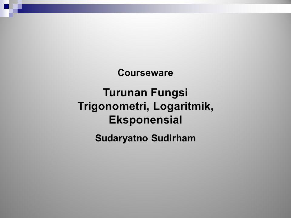 Trigonometri, Logaritmik, Eksponensial