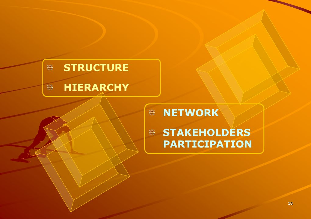 STRUCTURE HIERARCHY NETWORK STAKEHOLDERS PARTICIPATION