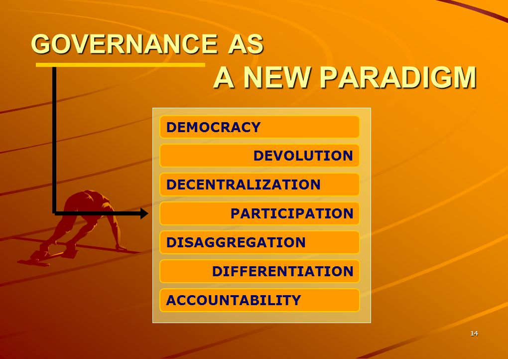 GOVERNANCE AS A NEW PARADIGM