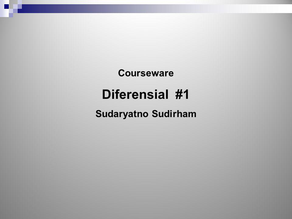 Courseware Diferensial #1 Sudaryatno Sudirham