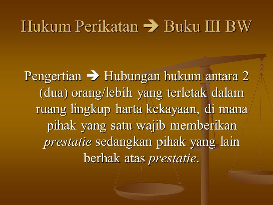 Hukum Perikatan  Buku III BW