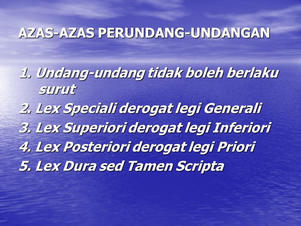 AZAS-AZAS PERUNDANG-UNDANGAN