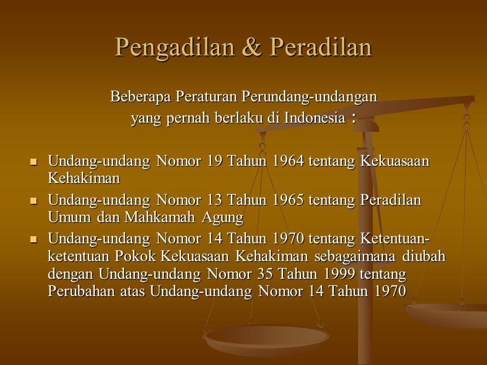 Pengadilan & Peradilan