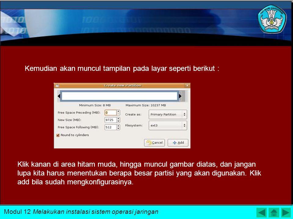 Kemudian akan muncul tampilan pada layar seperti berikut :