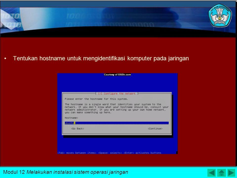 Tentukan hostname untuk mengidentifikasi komputer pada jaringan