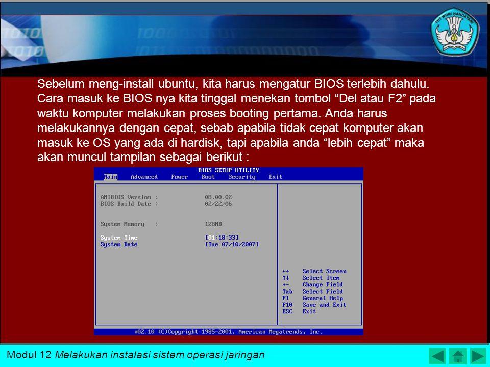 Modul 12 Melakukan instalasi sistem operasi jaringan
