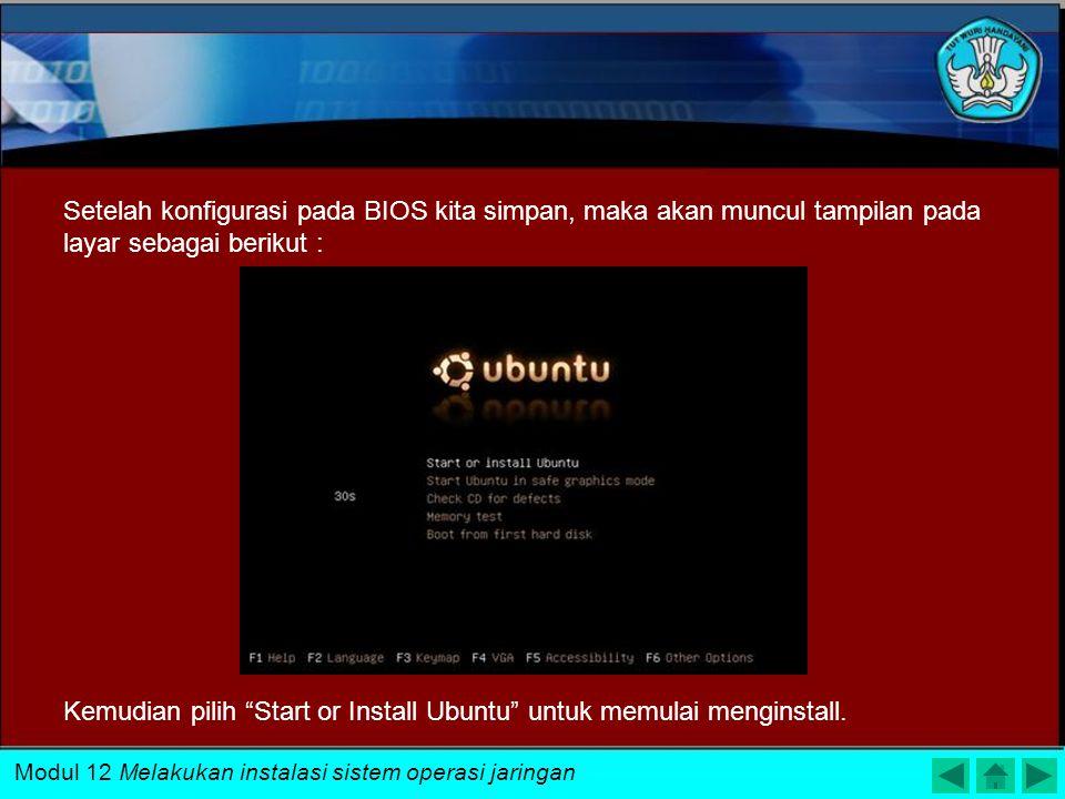 Kemudian pilih Start or Install Ubuntu untuk memulai menginstall.