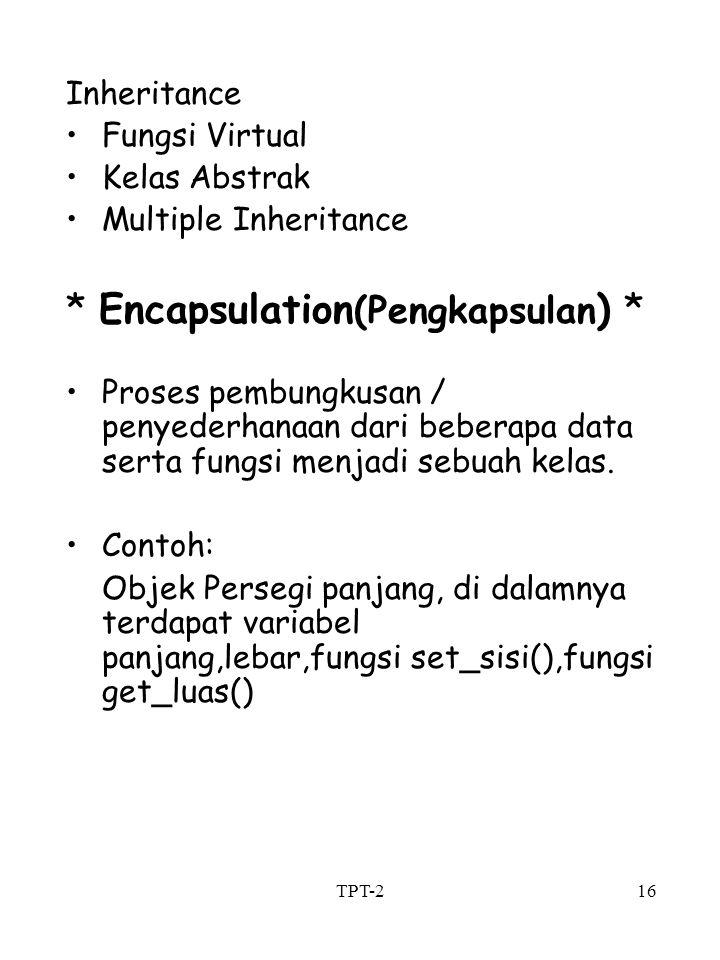 * Encapsulation(Pengkapsulan) *