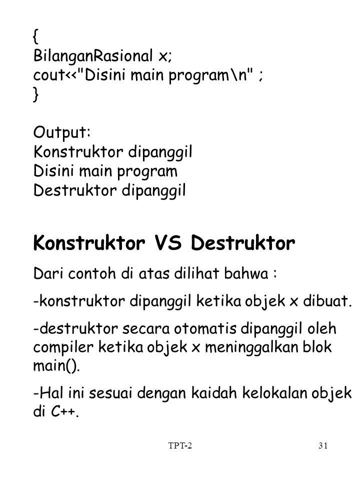Konstruktor VS Destruktor