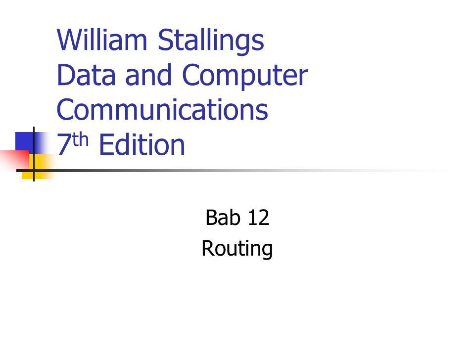 William Stallings Data and Computer Communications 7th Edition