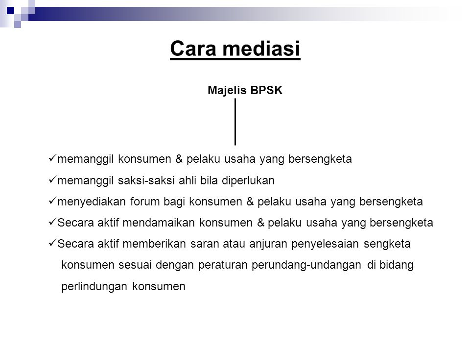 Cara mediasi Majelis BPSK