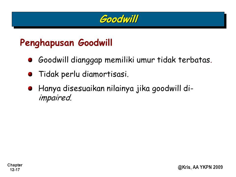 Goodwill Penghapusan Goodwill