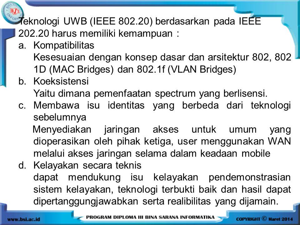 Teknologi UWB (IEEE 802.20) berdasarkan pada IEEE