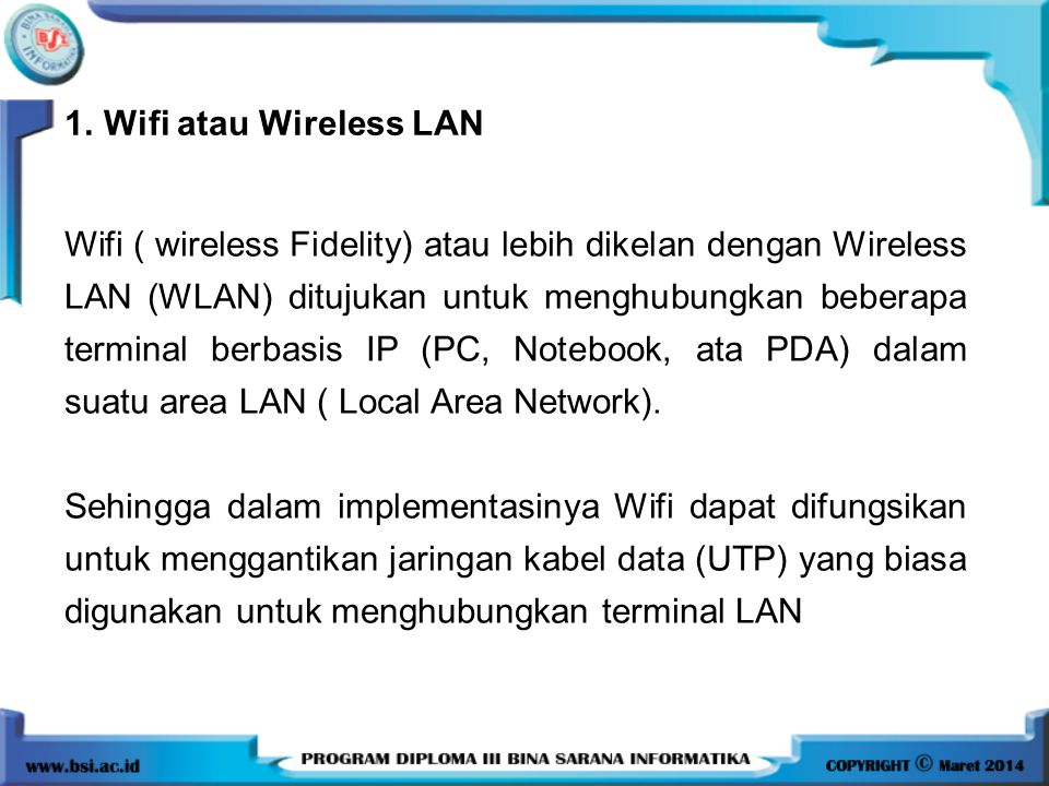 Wifi atau Wireless LAN