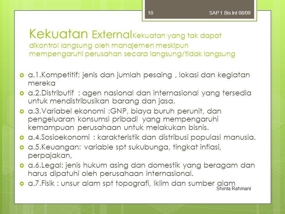 SAP 1 Bis Int 08/09