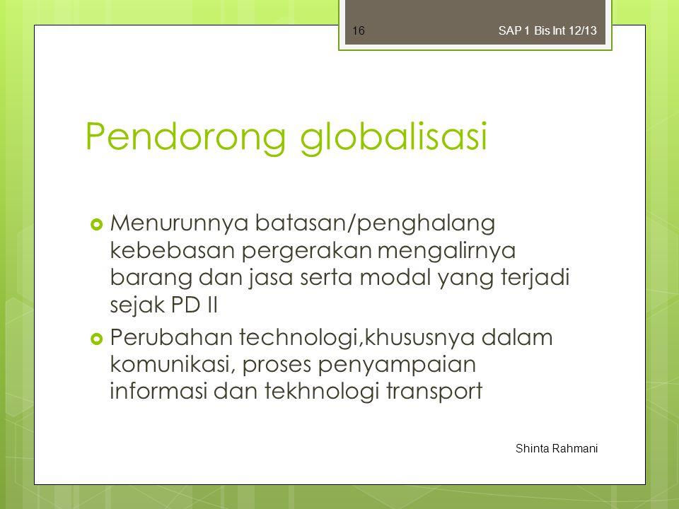 Pendorong globalisasi