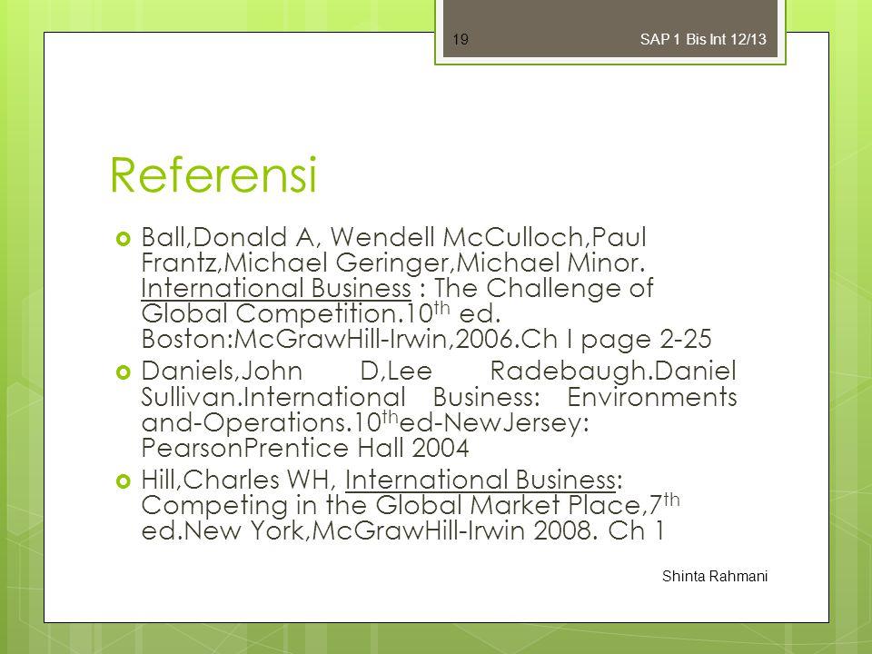 SAP 1 Bis Int 12/13 Referensi.