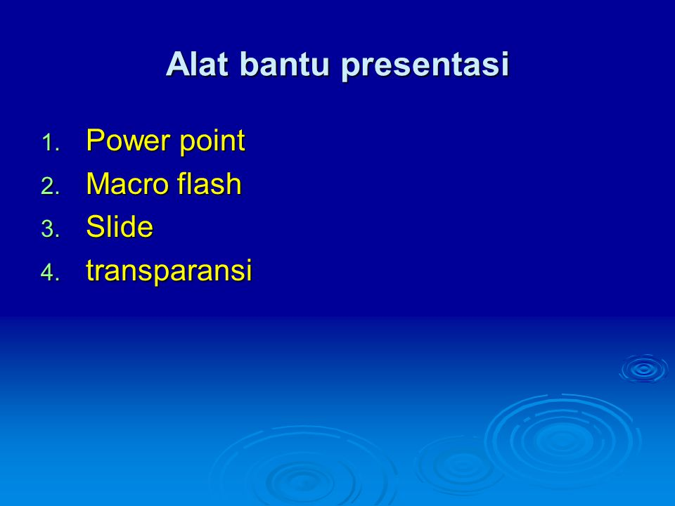 Alat bantu presentasi Power point Macro flash Slide transparansi