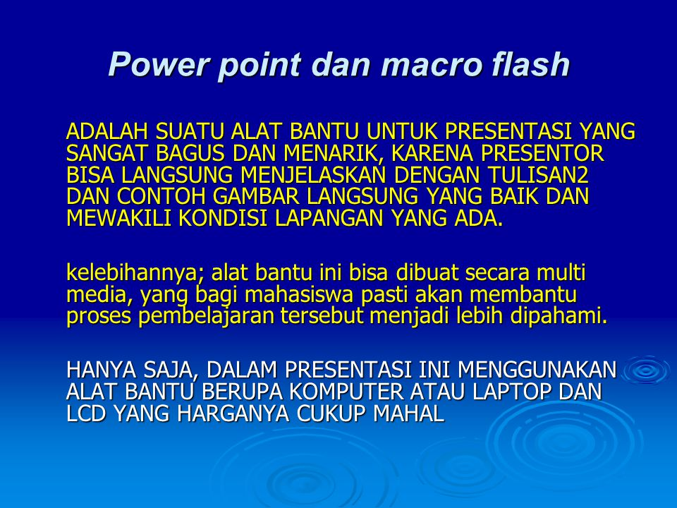 Power point dan macro flash