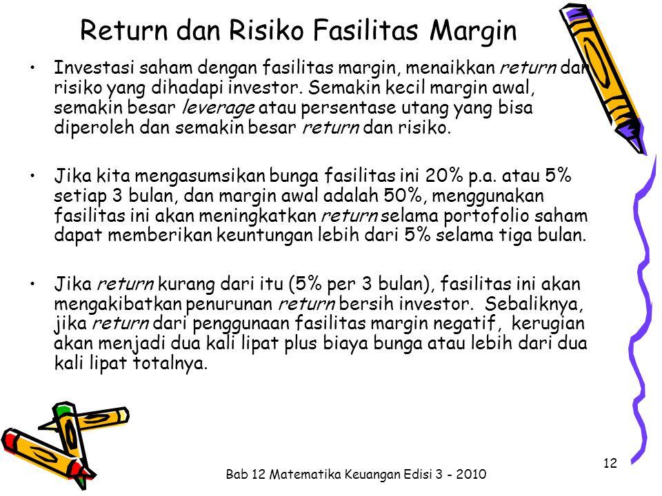 Return dan Risiko Fasilitas Margin