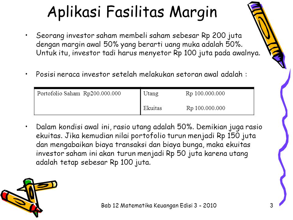 Aplikasi Fasilitas Margin