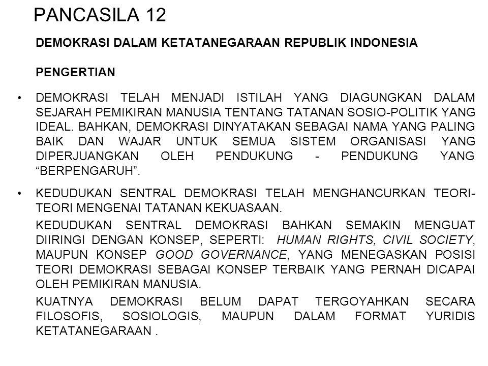 PANCASILA 12 DEMOKRASI DALAM KETATANEGARAAN REPUBLIK INDONESIA