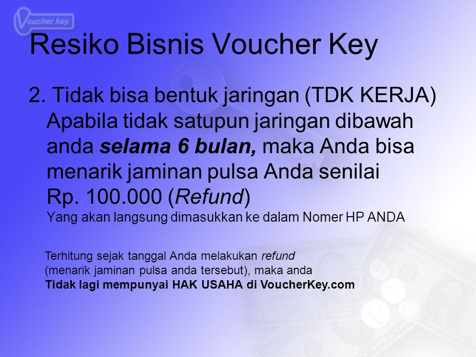 Resiko Bisnis Voucher Key