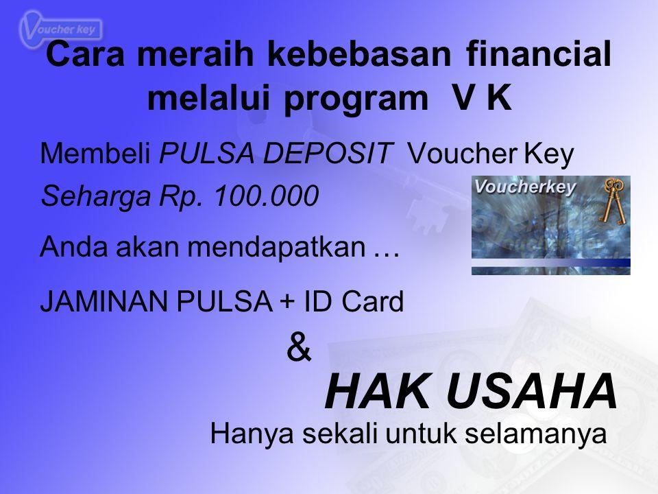 Cara meraih kebebasan financial melalui program V K