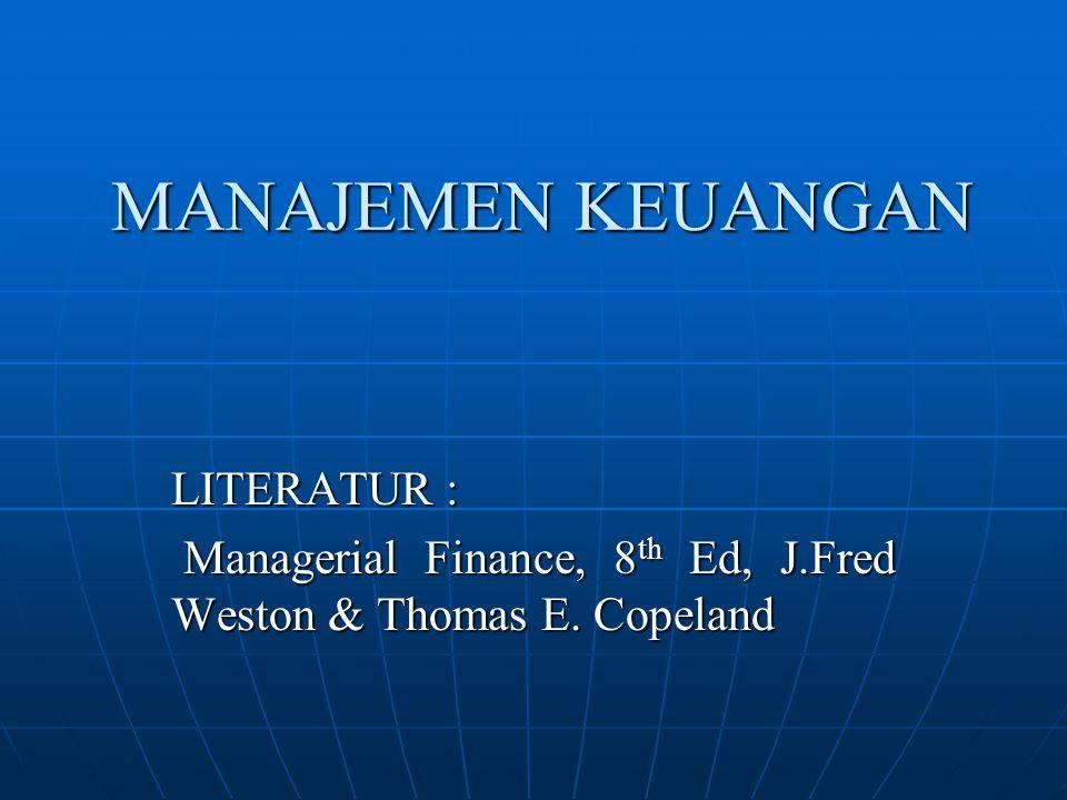 MANAJEMEN KEUANGAN LITERATUR :