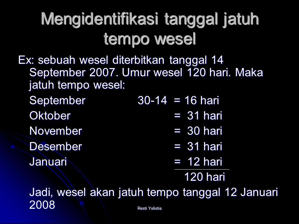 Mengidentifikasi tanggal jatuh tempo wesel