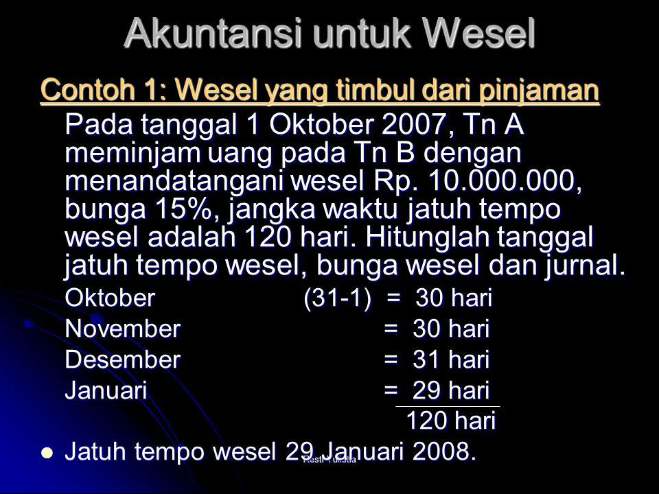 Akuntansi untuk Wesel Contoh 1: Wesel yang timbul dari pinjaman