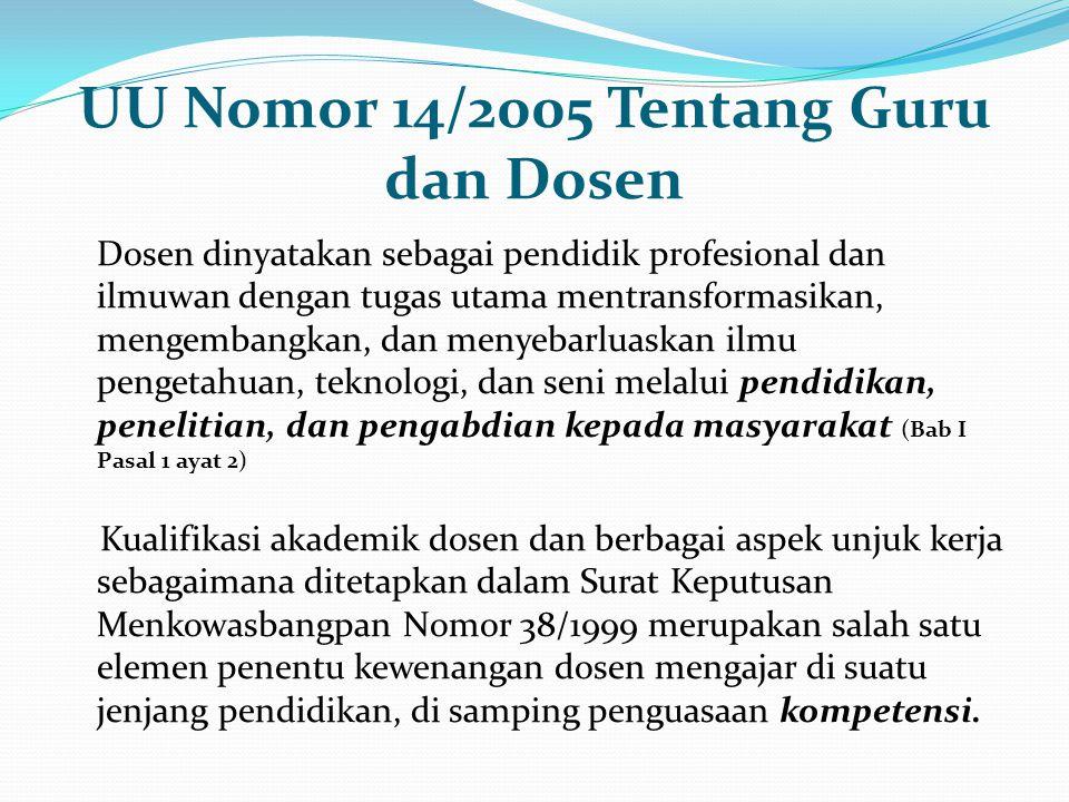 UU Nomor 14/2005 Tentang Guru dan Dosen