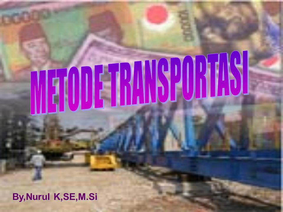 METODE TRANSPORTASI By,Nurul K,SE,M.Si