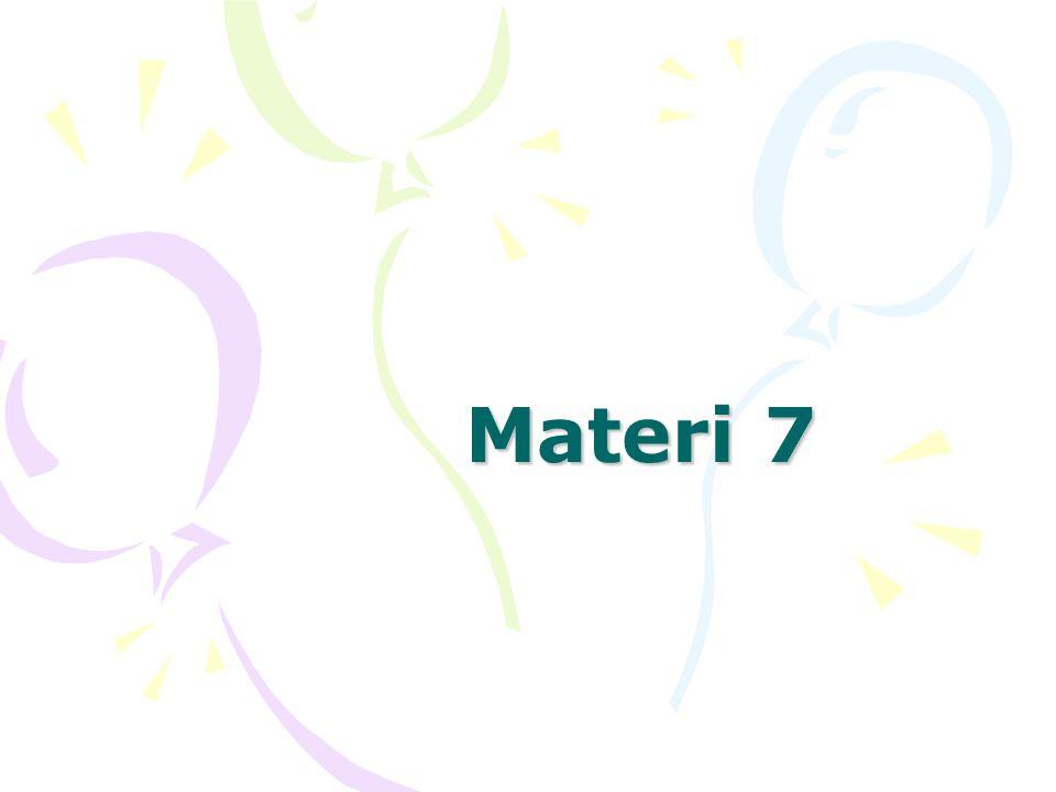 Materi 7