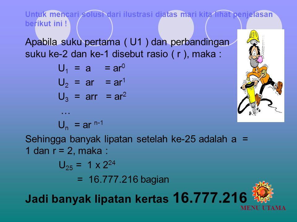 Jadi banyak lipatan kertas 16.777.216