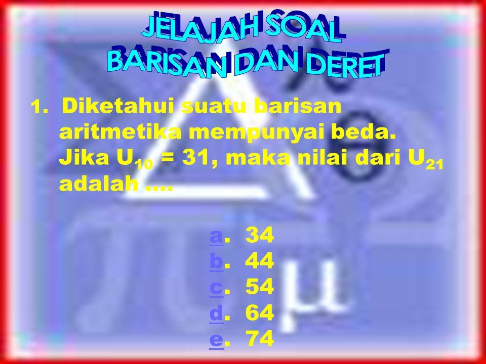 JELAJAH SOAL BARISAN DAN DERET