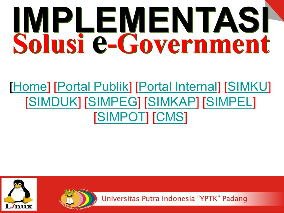 IMPLEMENTASI Solusi e-Government