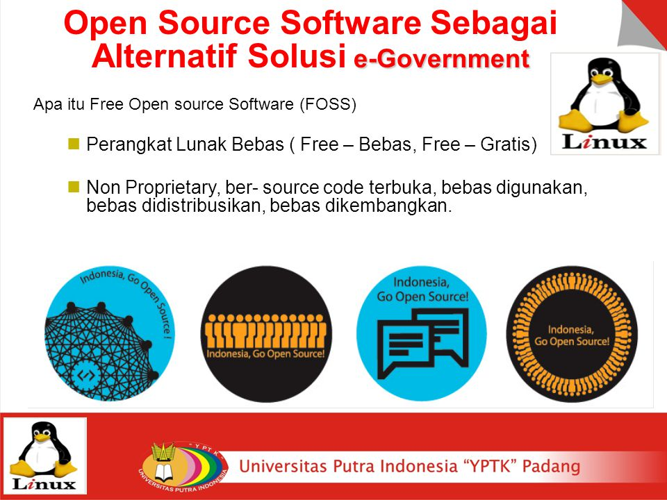 Open Source Software Sebagai Alternatif Solusi e-Government