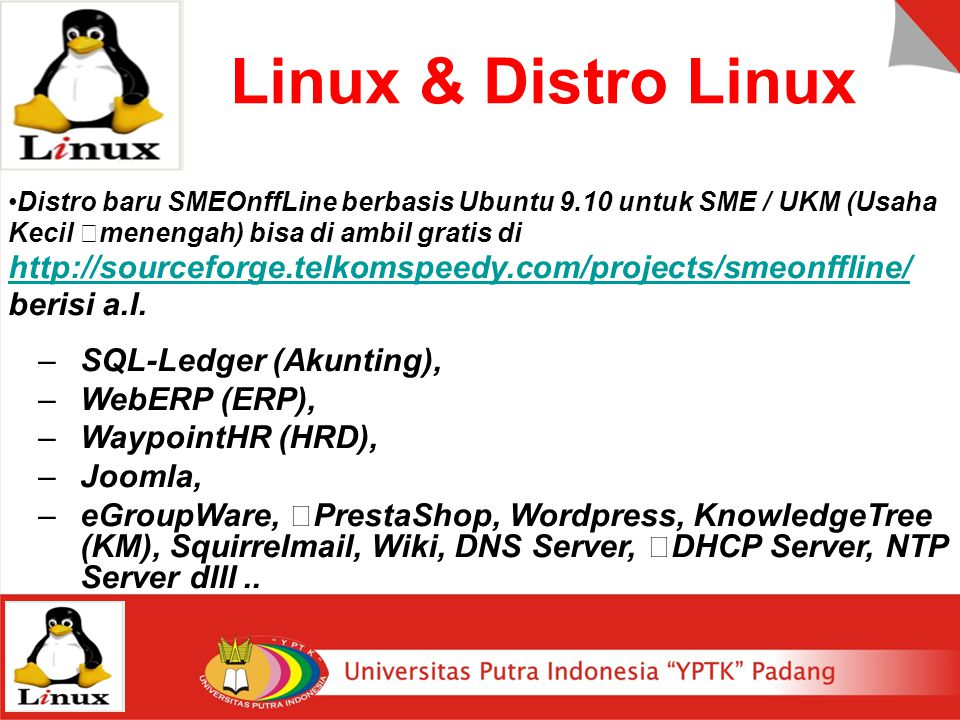Linux & Distro Linux SQL-Ledger (Akunting), WebERP (ERP),