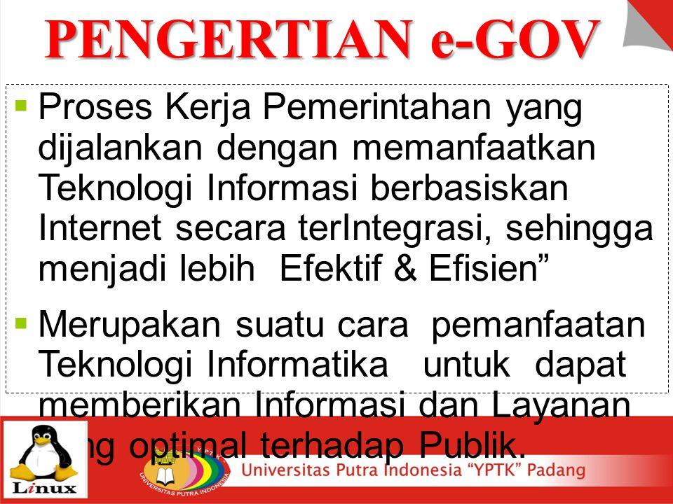 PENGERTIAN e-GOV