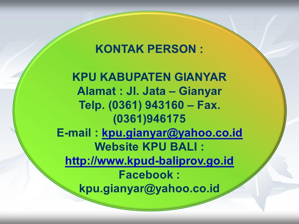 Alamat : Jl. Jata – Gianyar Telp. (0361) 943160 – Fax. (0361)946175