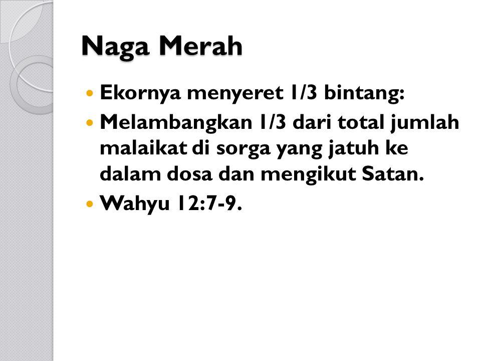 Naga Merah Ekornya menyeret 1/3 bintang: