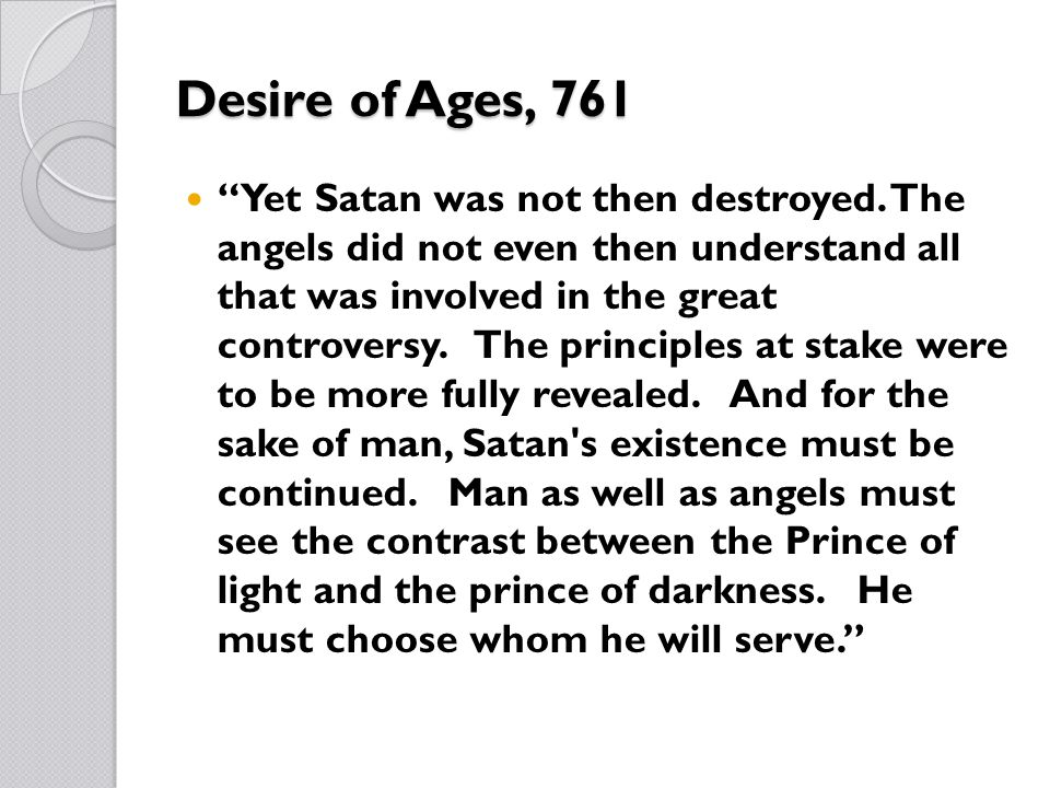 Desire of Ages, 761