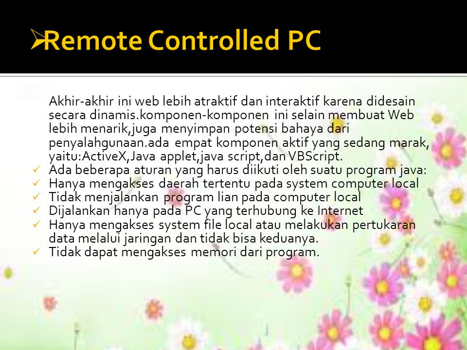 Remote Controlled PC