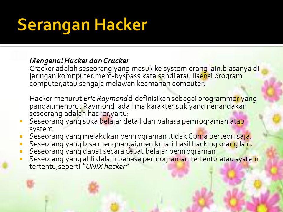 Serangan Hacker Mengenal Hacker dan Cracker